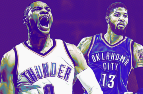 Image result for oklahoma city thunder paul george